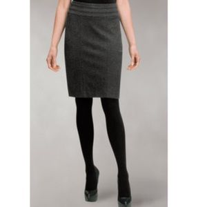 Cabi Heathered Charcoal Grey Pencil Skirt